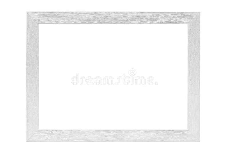 Witte houten omlijsting stock afbeeldingen