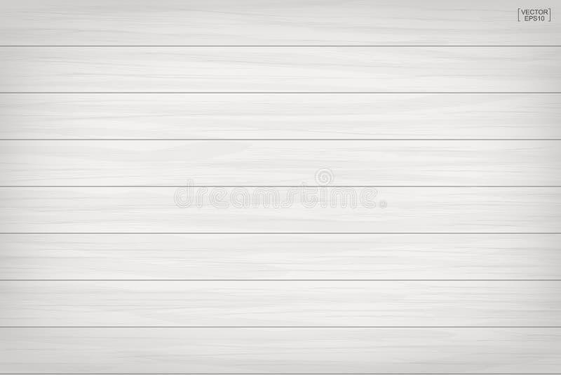 Witte houten patroon en textuurachtergrond Vector illustratie vector illustratie