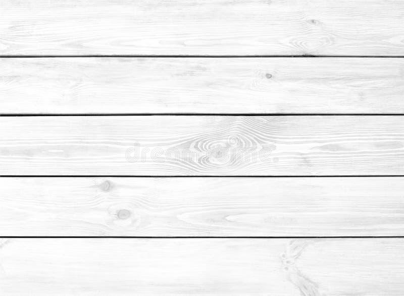 Witte houten planktextuur van horizontale raadsachtergrond stock fotografie