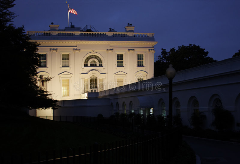 Witte Huis bij Nacht royalty-vrije stock foto