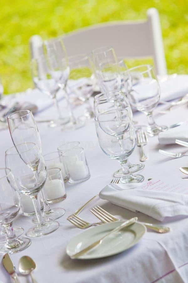Witte huwelijkslijst royalty-vrije stock foto