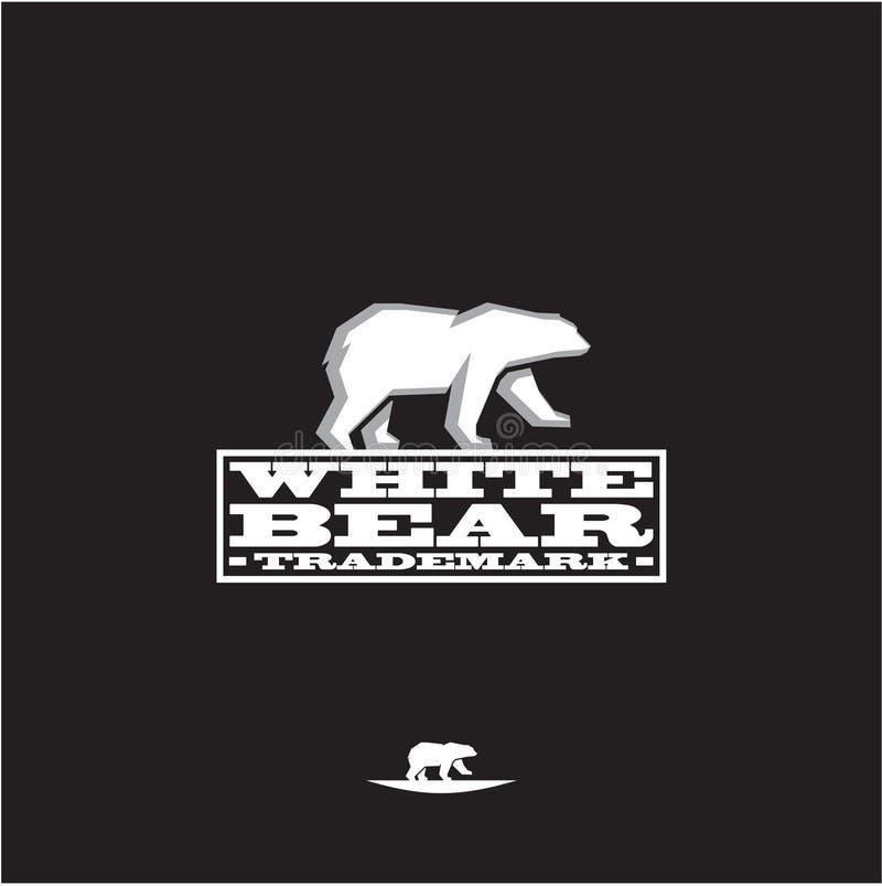 Witte ijsbeer royalty-vrije illustratie