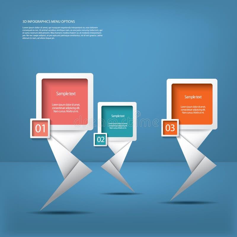 Witte infographic elementen met moderne pijlen stock illustratie