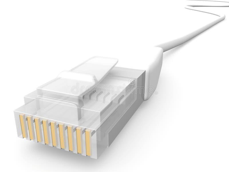 Witte Kabel 1 van het Netwerk stock illustratie