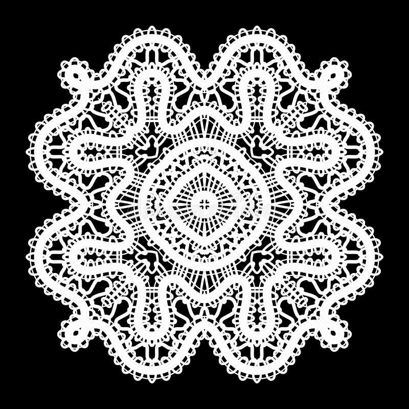 Witte kantdoily royalty-vrije illustratie