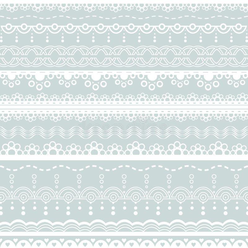 Witte kantgrenzen vector illustratie