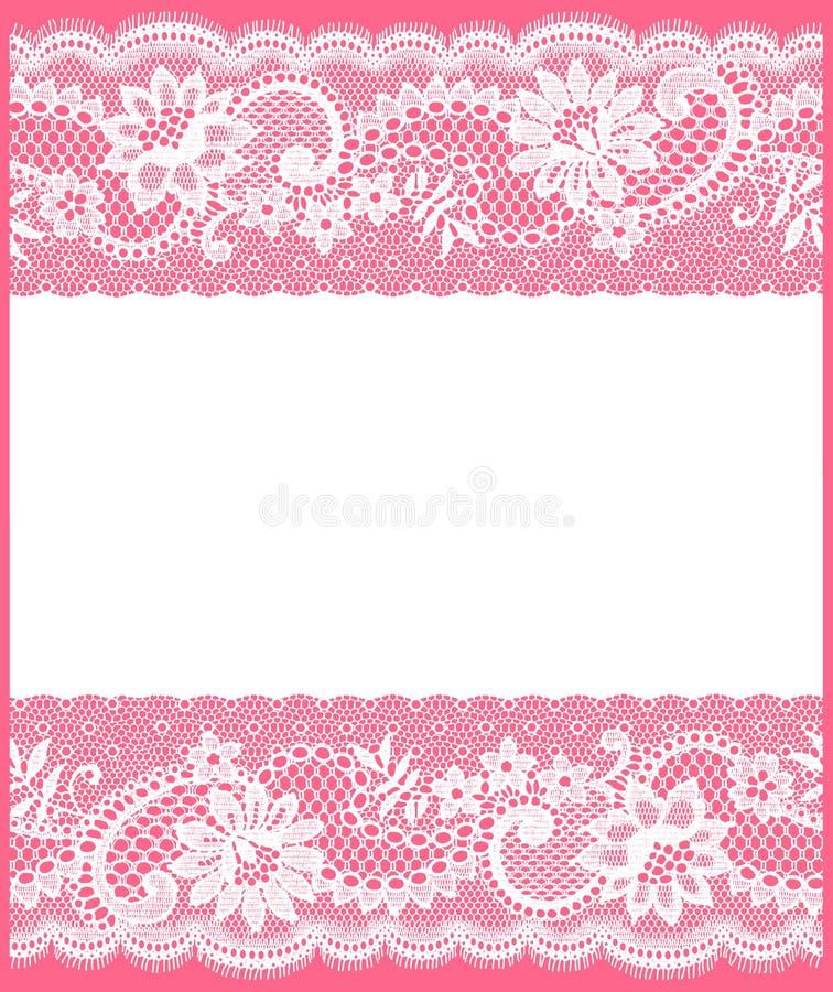 Witte Kantkaart royalty-vrije illustratie