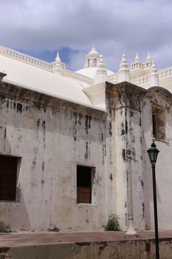 Witte Kathedraal in Leon, Nicaragua stock fotografie