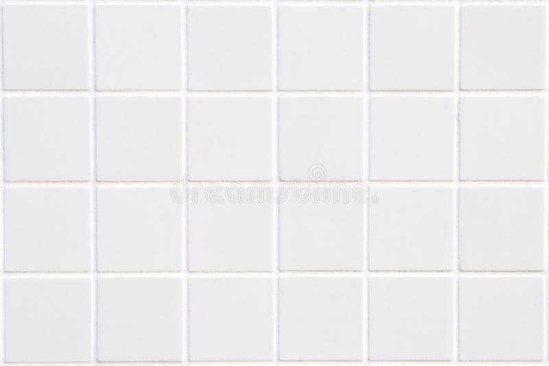 Witte keramische tegel met 24 vierkanten stock afbeelding