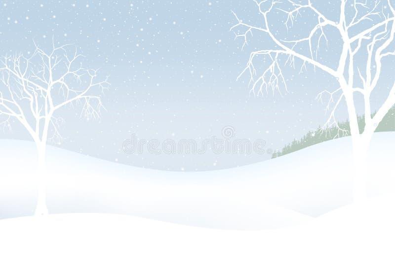 Witte Kerstmis - de winterlandschap stock illustratie