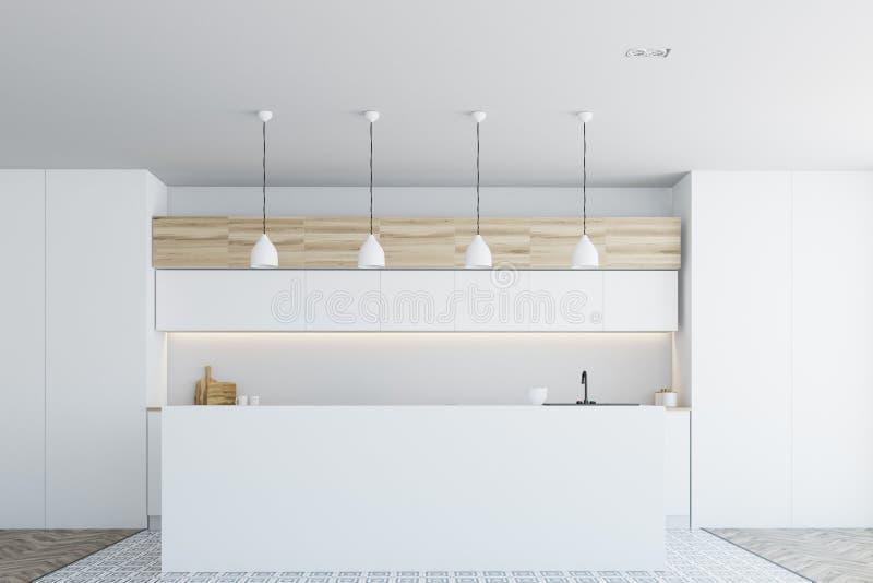 Witte keukenbar vooraanzicht stock illustratie illustratie