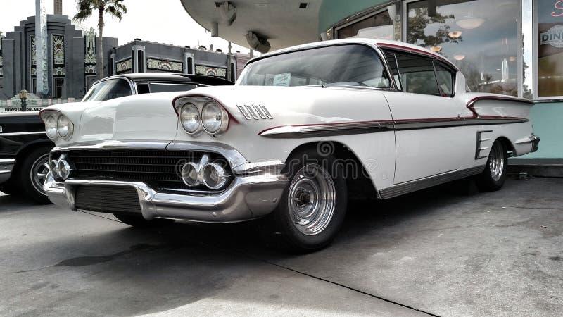 Witte Klassieke Auto royalty-vrije stock afbeeldingen