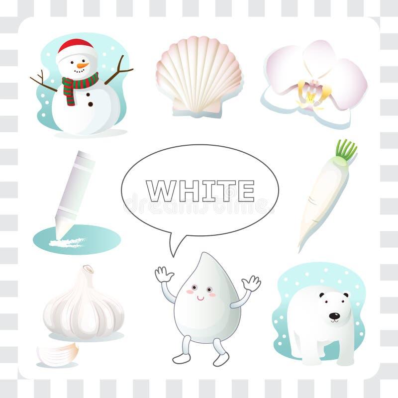 Witte kleur stock illustratie