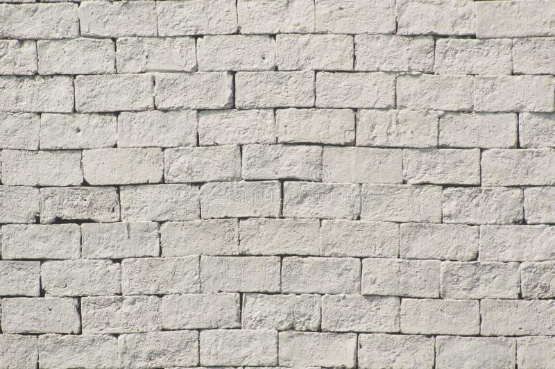 Witte kleur geschilderde bakstenen muurtextuur stock fotografie
