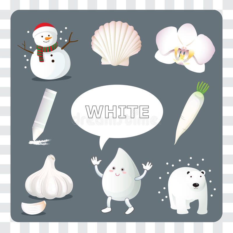 Witte kleur op grijze Achtergrond stock illustratie