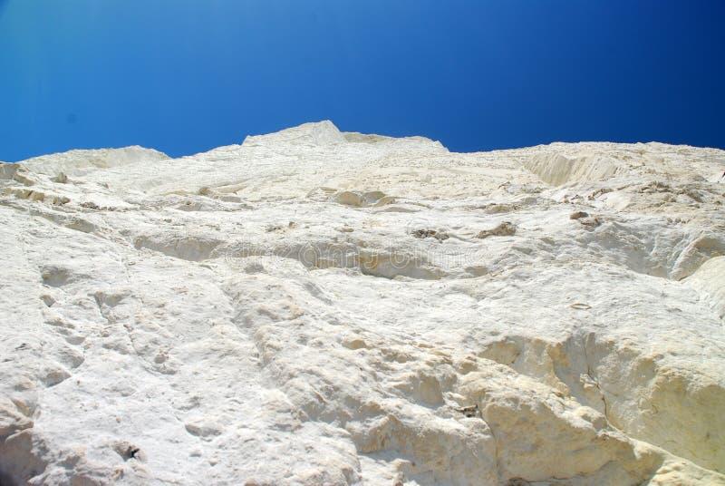 Witte klippen van Kiezelachtig Hoofd, Zuid-Engeland, het UK stock fotografie