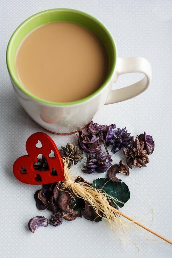 Witte koffie stock afbeeldingen