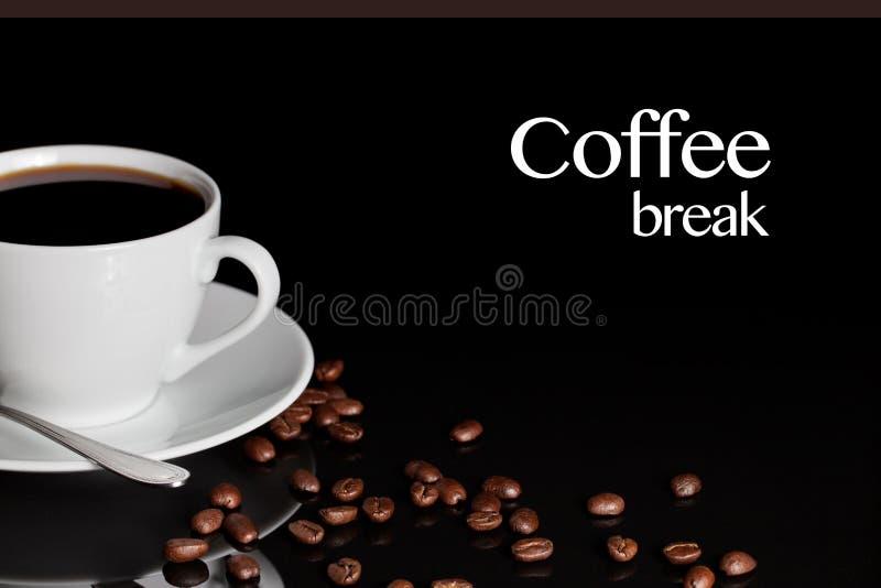 Koffiepauzeachtergrond stock foto's