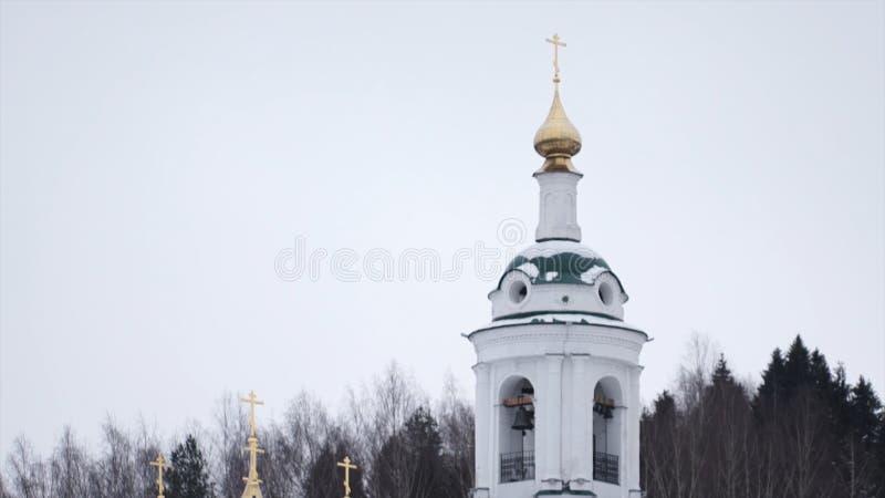 Witte koloniale stijlkerk Dit is de Kerk in de film de Vogels wordt gebruikt die royalty-vrije stock afbeelding