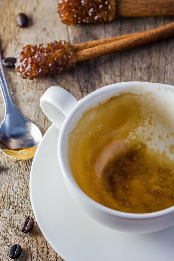 Witte kop Kop van koffie royalty-vrije stock afbeelding