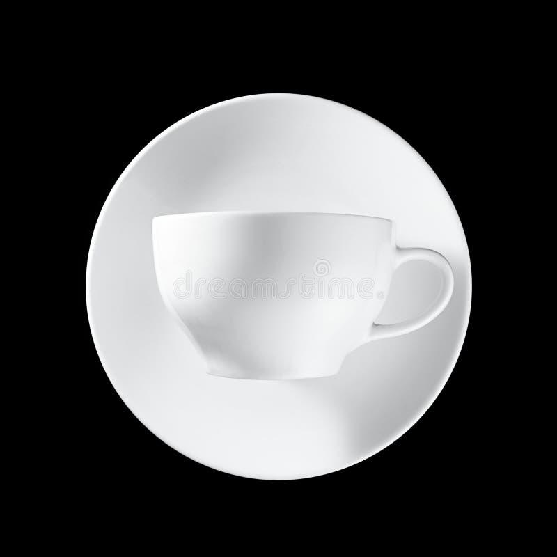 Witte kop op zwarte achtergrond royalty-vrije stock foto