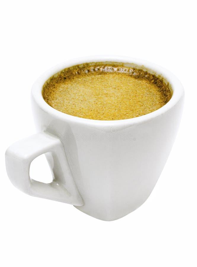 Witte Kop van Espresso met Weg stock foto