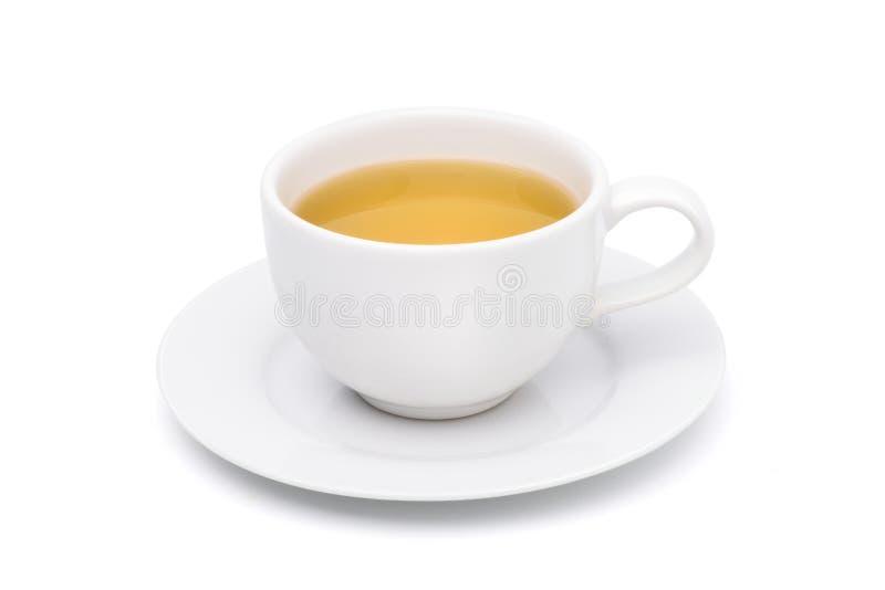 Witte kop van hete thee royalty-vrije stock afbeeldingen