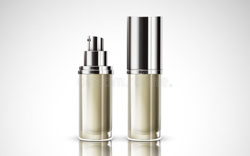 Witte kosmetische flessen royalty-vrije illustratie