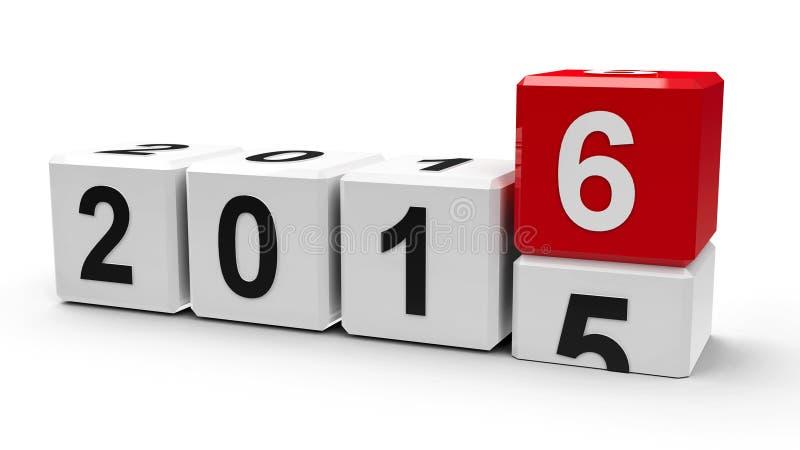 Witte kubussen 2016 vector illustratie