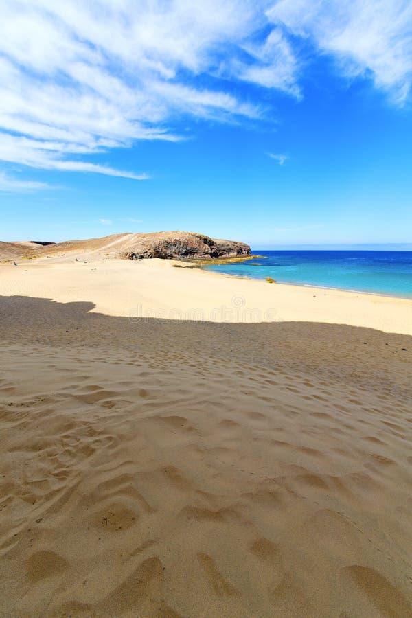 witte kust lanzarote in de mensen van Spanje royalty-vrije stock foto