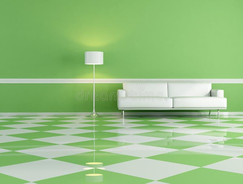 Witte laag in een klassieke woonkamer vector illustratie