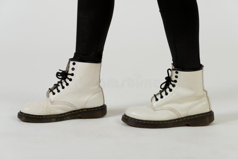 Witte Laarzen stock foto