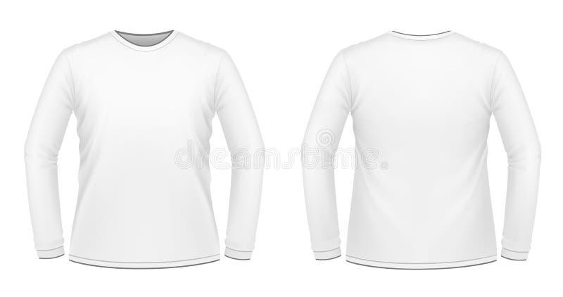 Witte lang-sleeved T-shirt stock illustratie