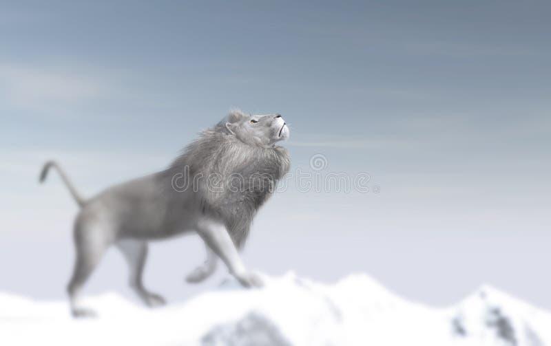 Witte leeuw stock illustratie