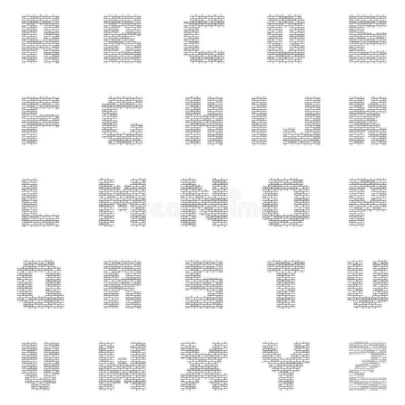 Witte Lege Baksteenbrieven stock illustratie