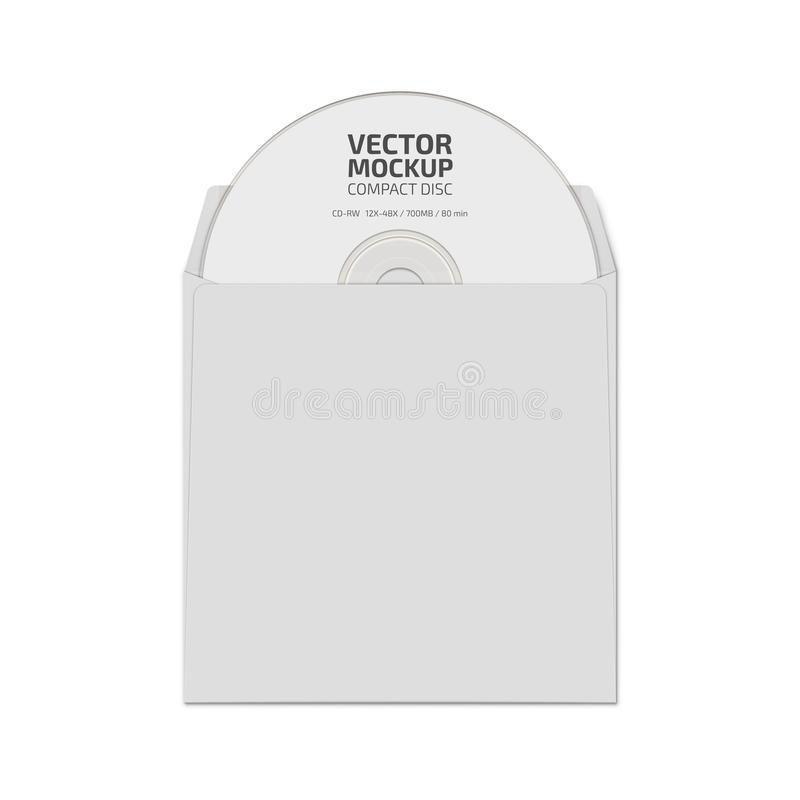 Witte lege compact discspot op vector stock foto's