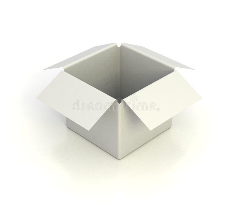 Witte lege doos royalty-vrije illustratie