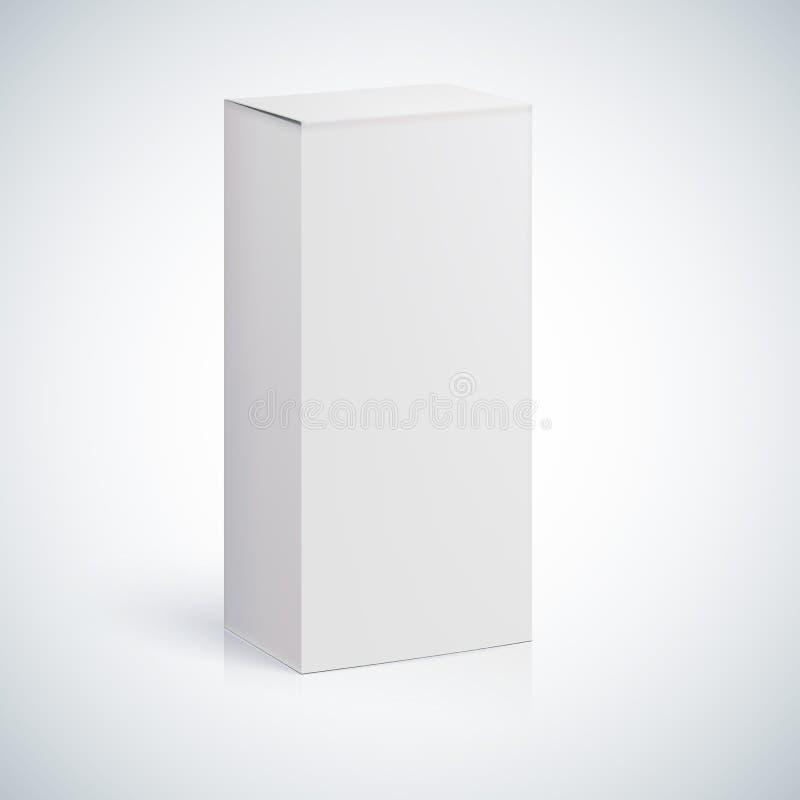 Witte lege doos met lege ruimte stock illustratie