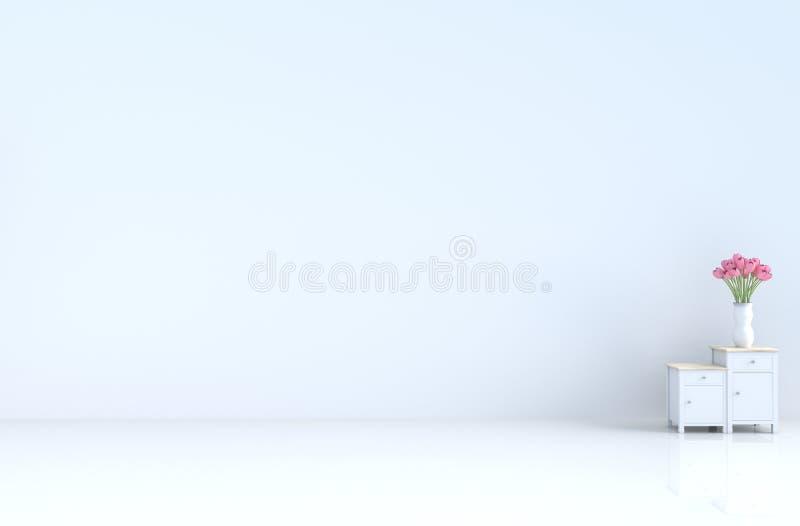 Witte lege ruimte van het nieuwe jaar van liefdeinvalentine de dag en 3d geef terug royalty-vrije stock afbeeldingen