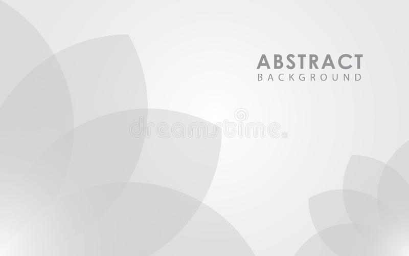 Witte lichte abstracte geometrische stroomvector als achtergrond vector illustratie