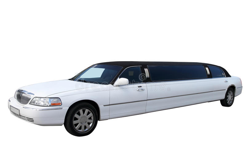 Witte limousine royalty-vrije stock afbeelding