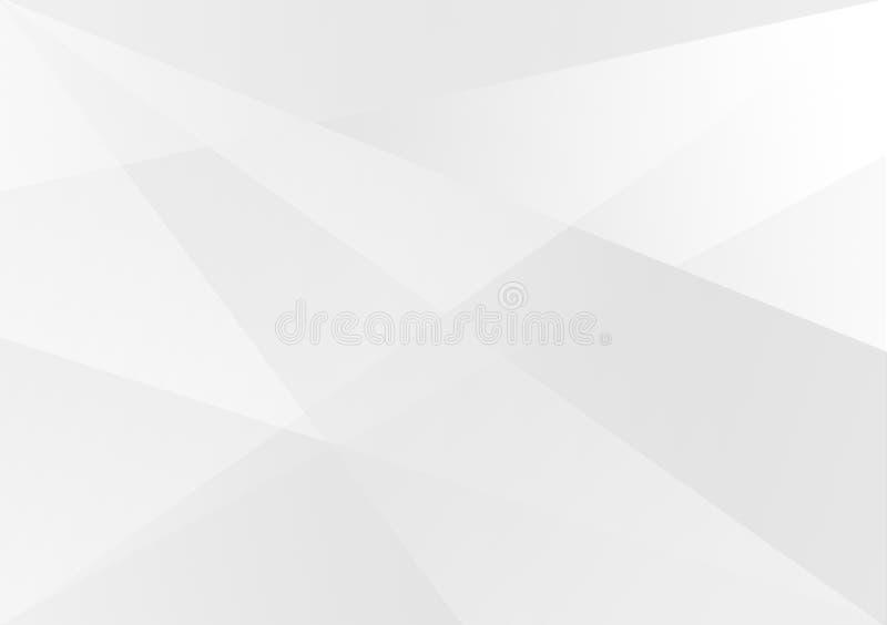 Witte lineaire vorm achtergrondgradiëntachtergrond vector illustratie