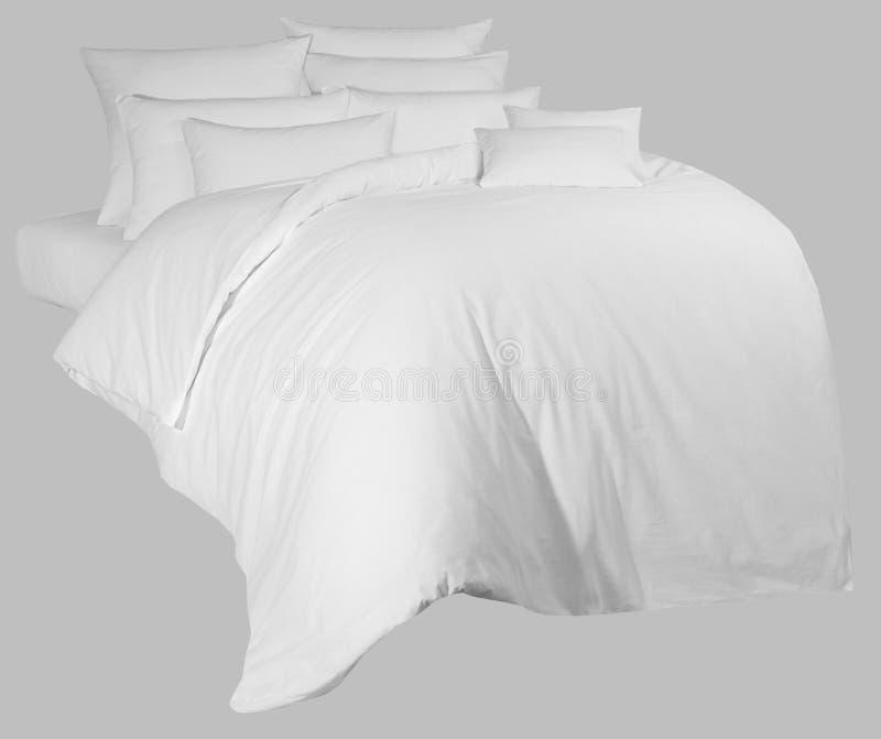 Witte linnenuitrusting, voor grafische verwerking, op een neutrale backgrou stock afbeelding
