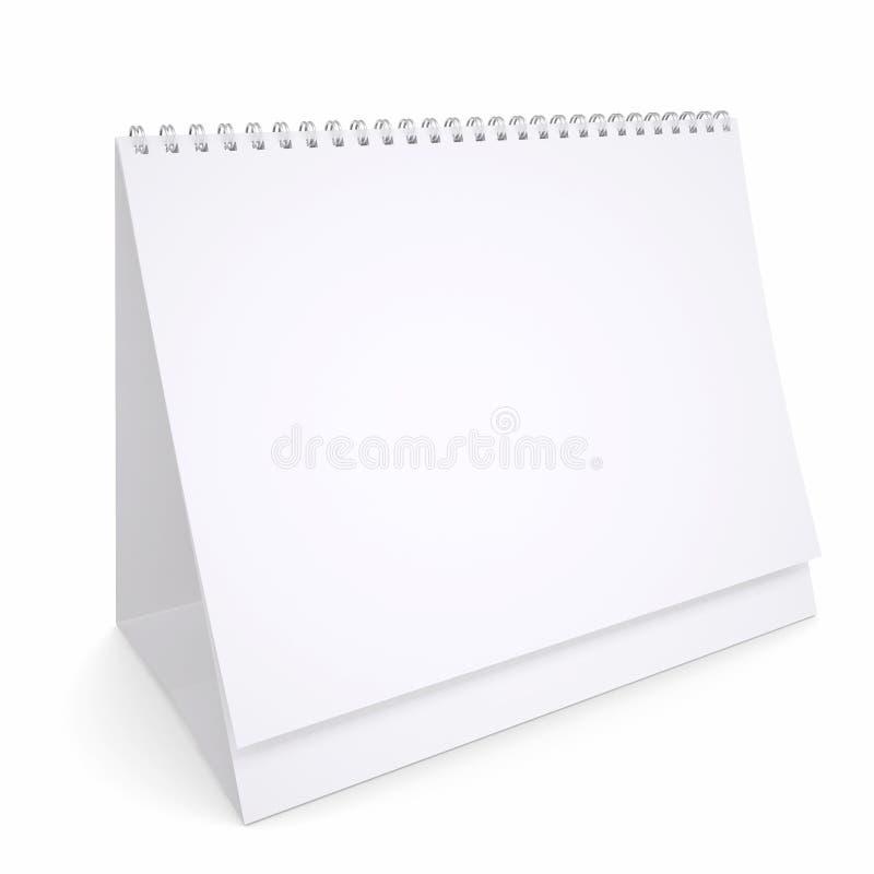 Witte losbladige kalender royalty-vrije illustratie