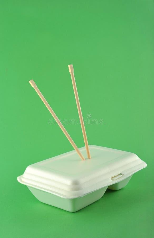 Witte lunchdoos royalty-vrije stock afbeelding