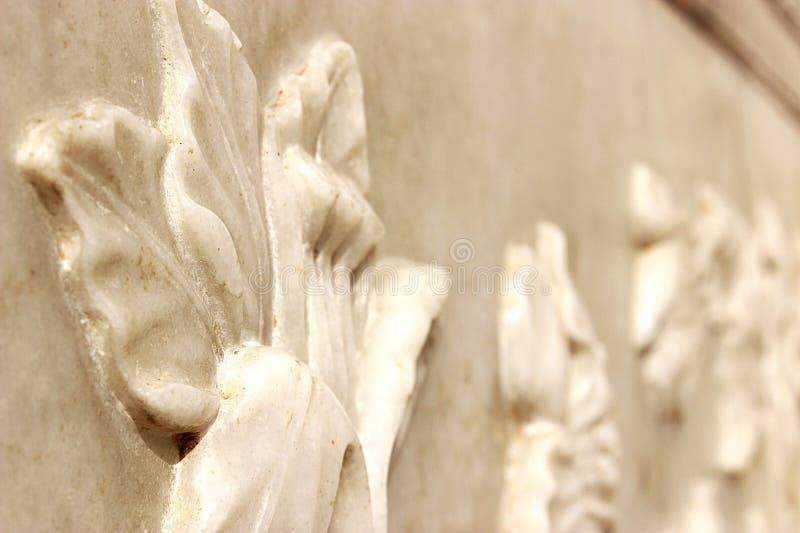 Witte marmeren bloemen royalty-vrije stock foto's