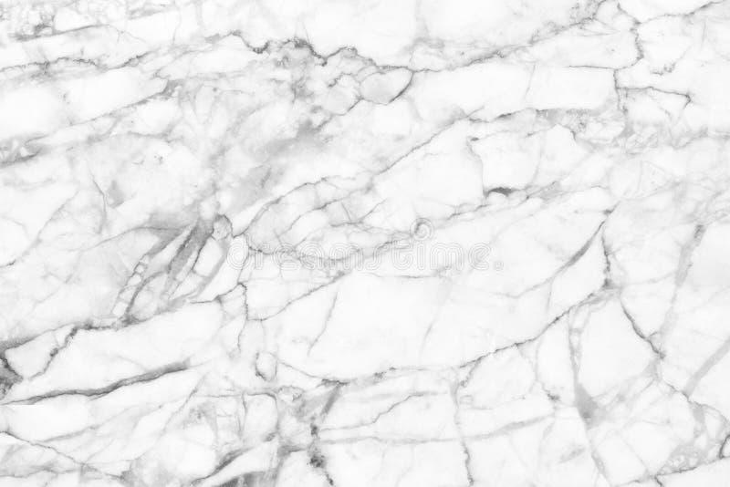 Witte marmeren textuur, gedetailleerde die structuur van marmer in natuurlijk voor achtergrond wordt gevormd en ontwerp royalty-vrije stock foto