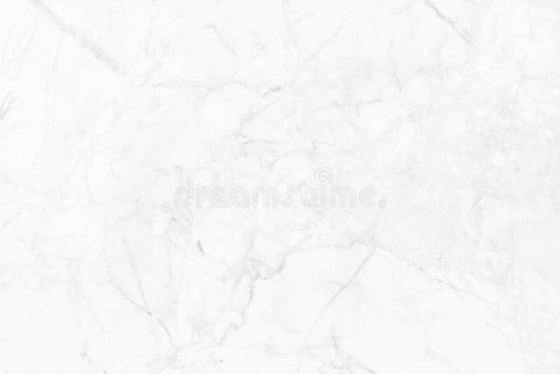 Witte marmeren textuur in natuurlijk patroon, Witte steenvloer stock afbeeldingen