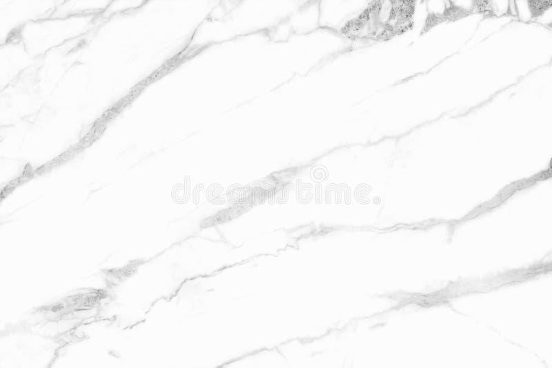 Witte marmeren textuur in natuurlijk patroon, Witte steenvloer stock afbeelding
