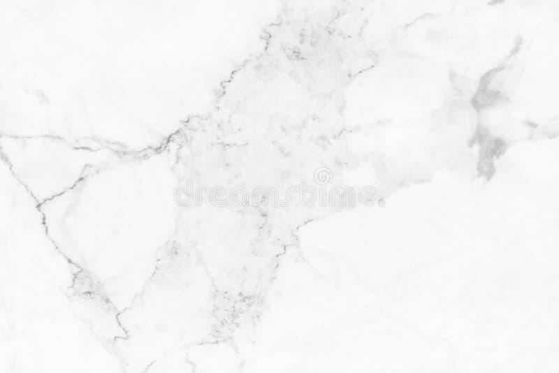 Witte marmeren textuur in natuurlijk patroon, Witte steenvloer stock fotografie